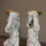 Pair 19th Century Italian Painted Statues of Cherubs