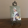 Antique Country French Hand Painted Porcelain Tile, Ca. 1920s
