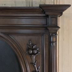 19th Century French Henri II Walnut Trumeau