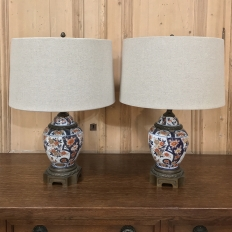 PAIR 19th Century Imari Vase Table Lamps