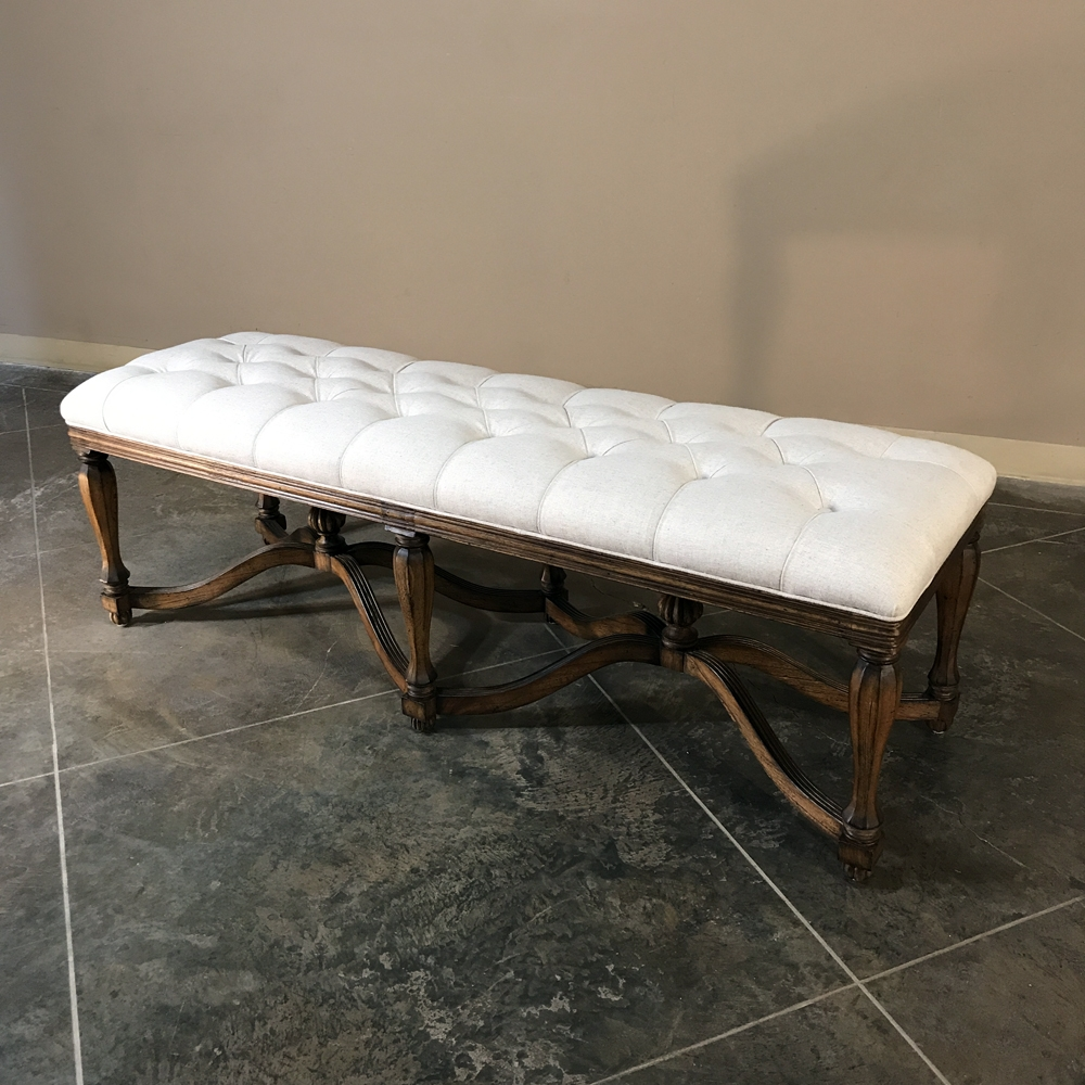 Bench By Bed: King Henri Bed Bench, Oatmeal Linen