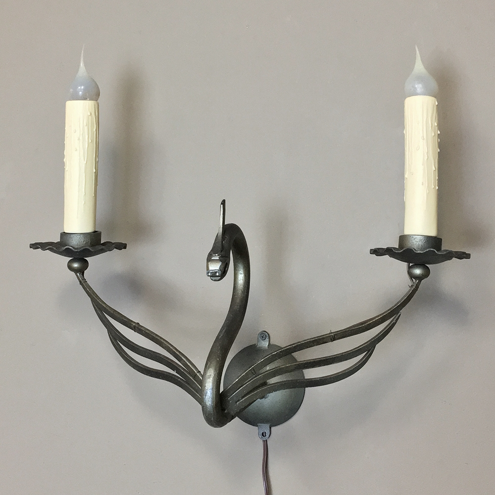 Nickeled Dragon Wall Sconce Inessa Stewart S Antiques