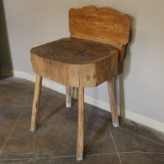 19th Century Butcher Block Table
