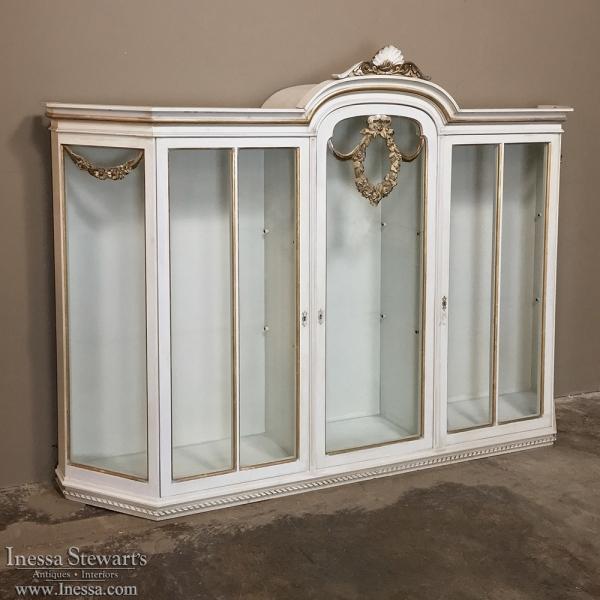 Antique Italian Painted Louis XVI Display Case