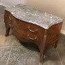 19th Century French Louis XV Bombe Marble Top Commode