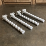 Set of Four 19th Century Cararra Marble Columns with Byzantine Capitals