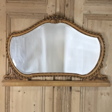 Antique Italian Neoclassical Fruitwood Mirror
