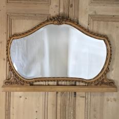 Antique Italian Neoclassical Fruitwood Mirror