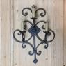 Pair Antique Italian Wrought Iron Electrified Wall Sconces