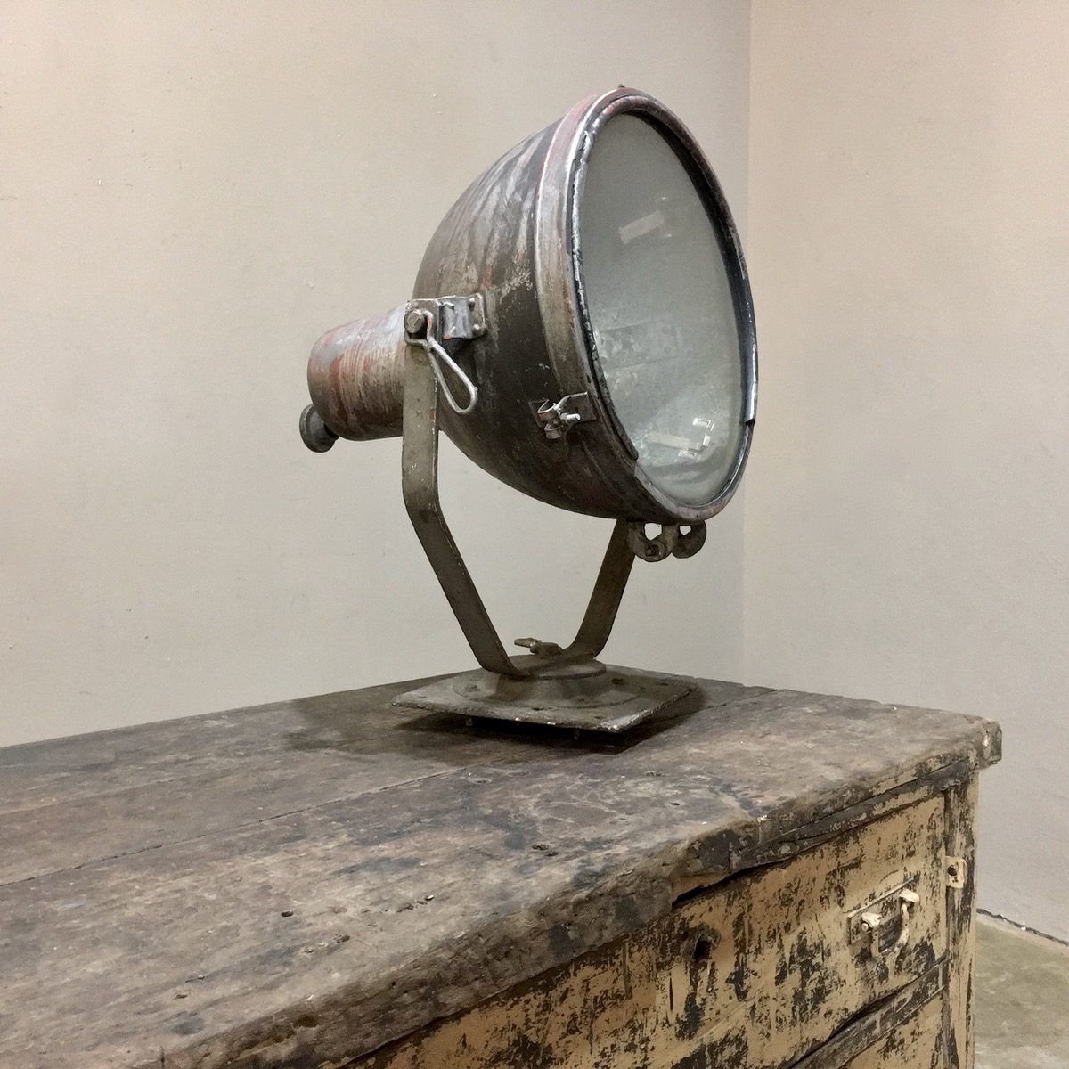 Mid Century French Industrial Lamp Inessa Stewart S Antiques