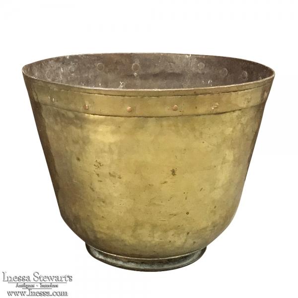 19th Century Brass Jardiniere - Bucket