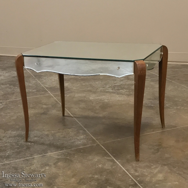 Mid-Century Mirrored Coffee Table ca. 1950