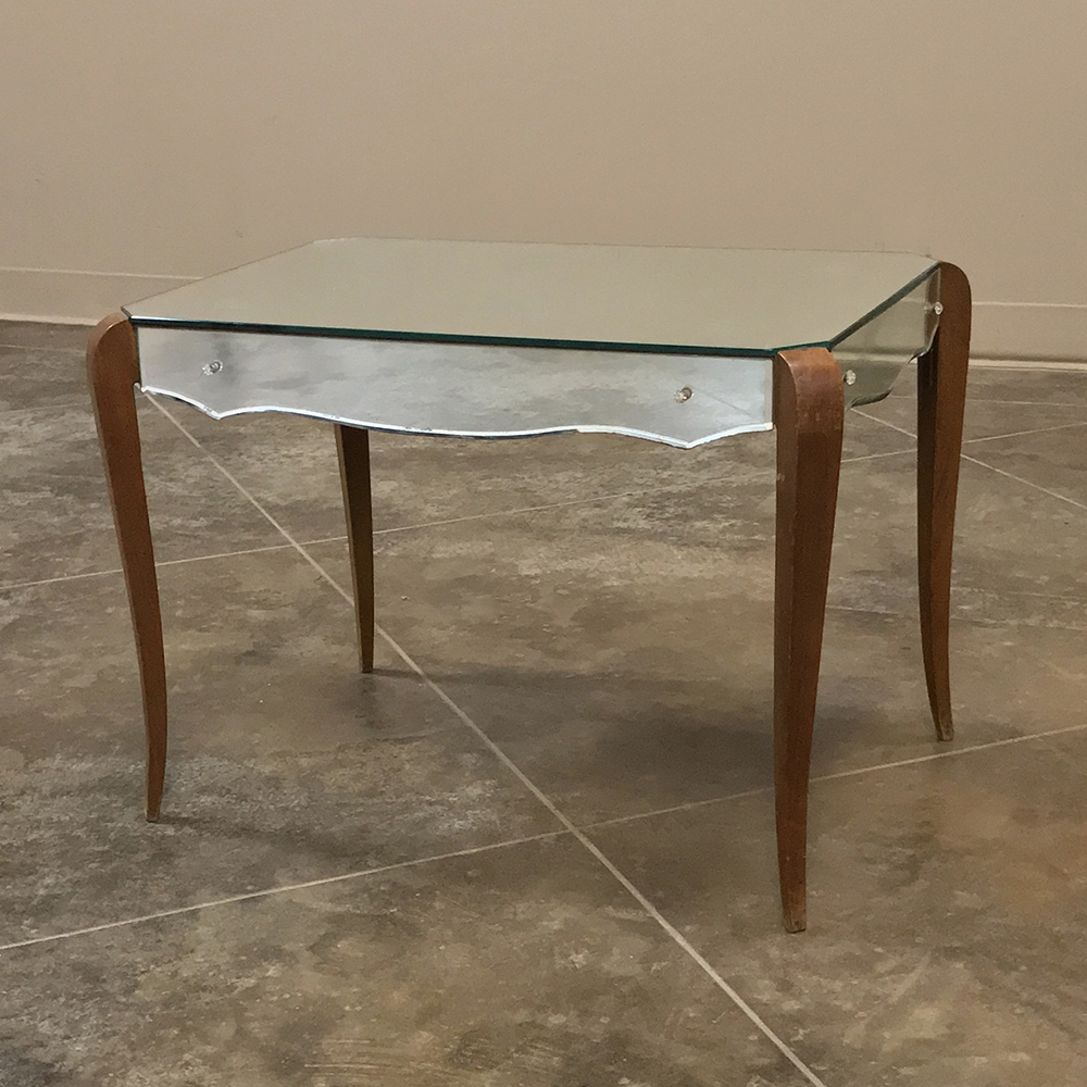 Mid Century Mirrored Coffee Table Ca 1950
