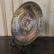 19th Century Embossed Copper Charger