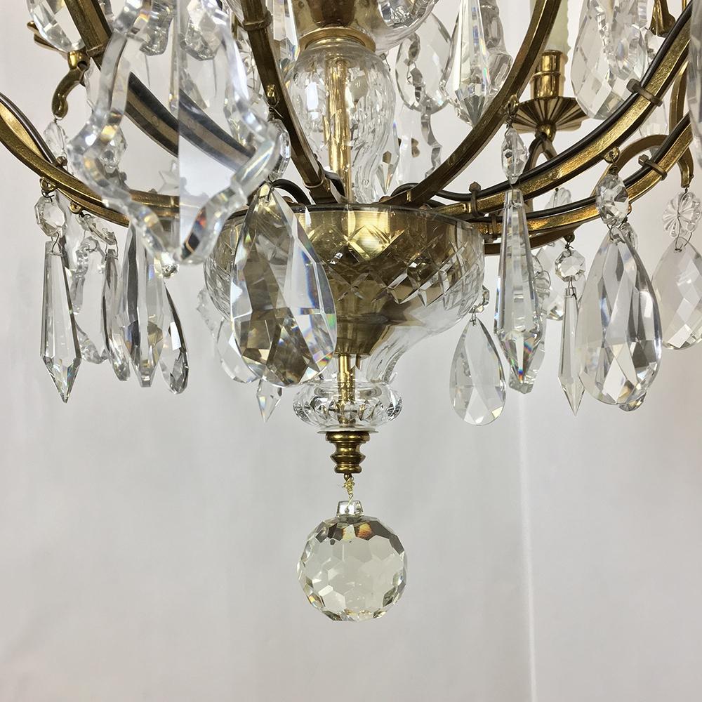 Crystal Venetian Chandeliers: Antique Venetian Brass And Crystal Chandelier