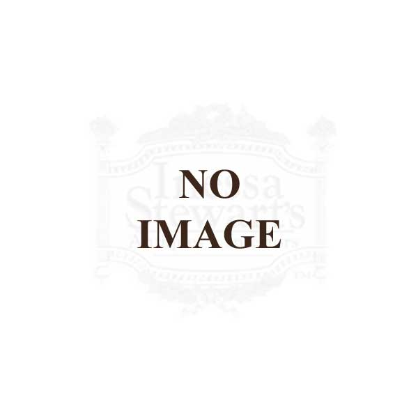 Antique English Wicker Gilded End Table