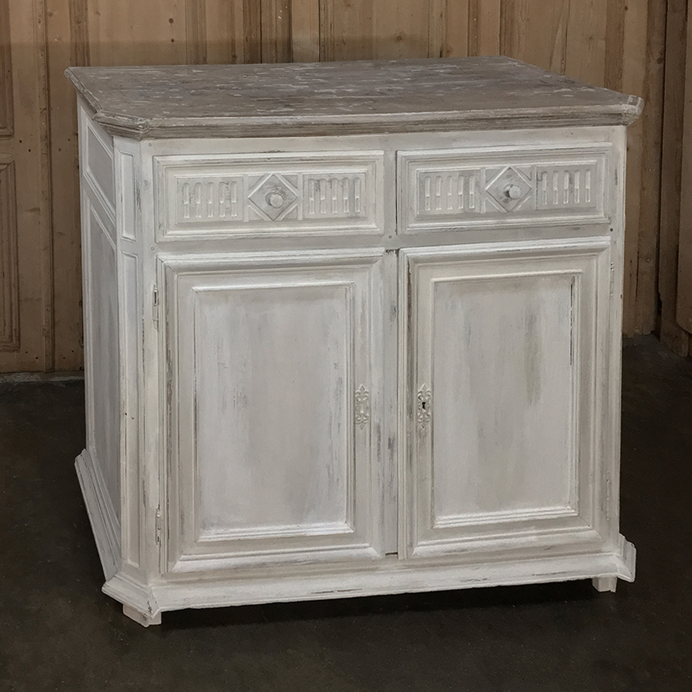 Antique Country French Painted Buffet,1840.