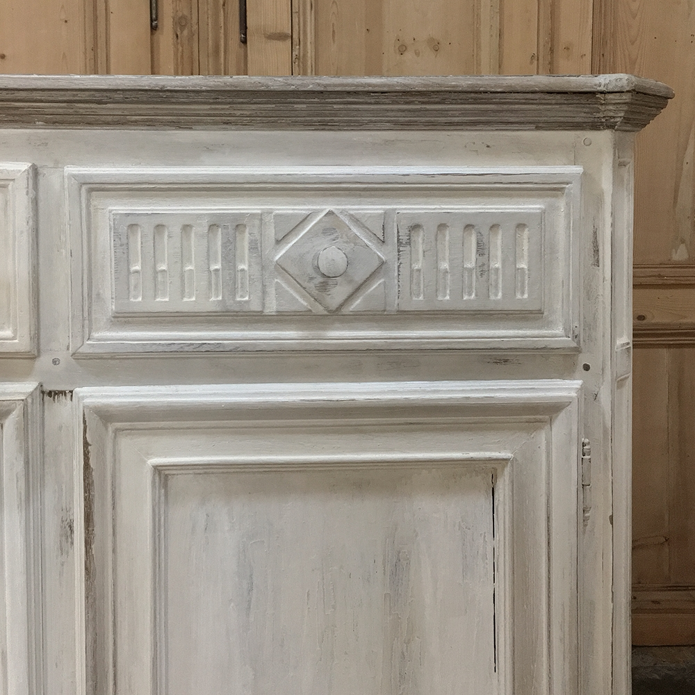 Antique Country French Painted Buffet 1840