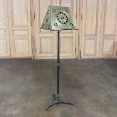 19th Century Wrought Iron & Brass Music Stand