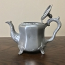 Antique Embossed Silverplate Pewter Teapot