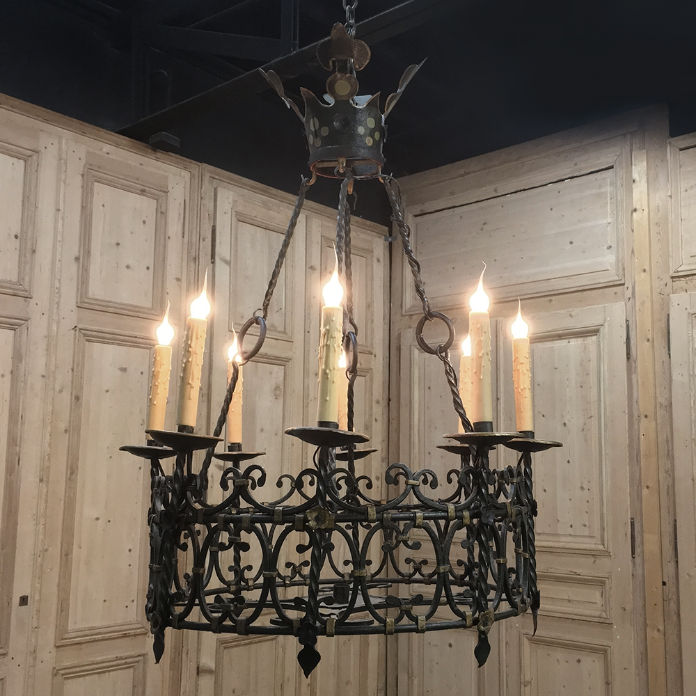Antique Country French Wrought Iron Chandelier ... - Antique Country French Wrought Iron Chandelier - Inessa Stewart's