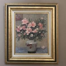 Mid-Century Framed Oil Painting on Canvas