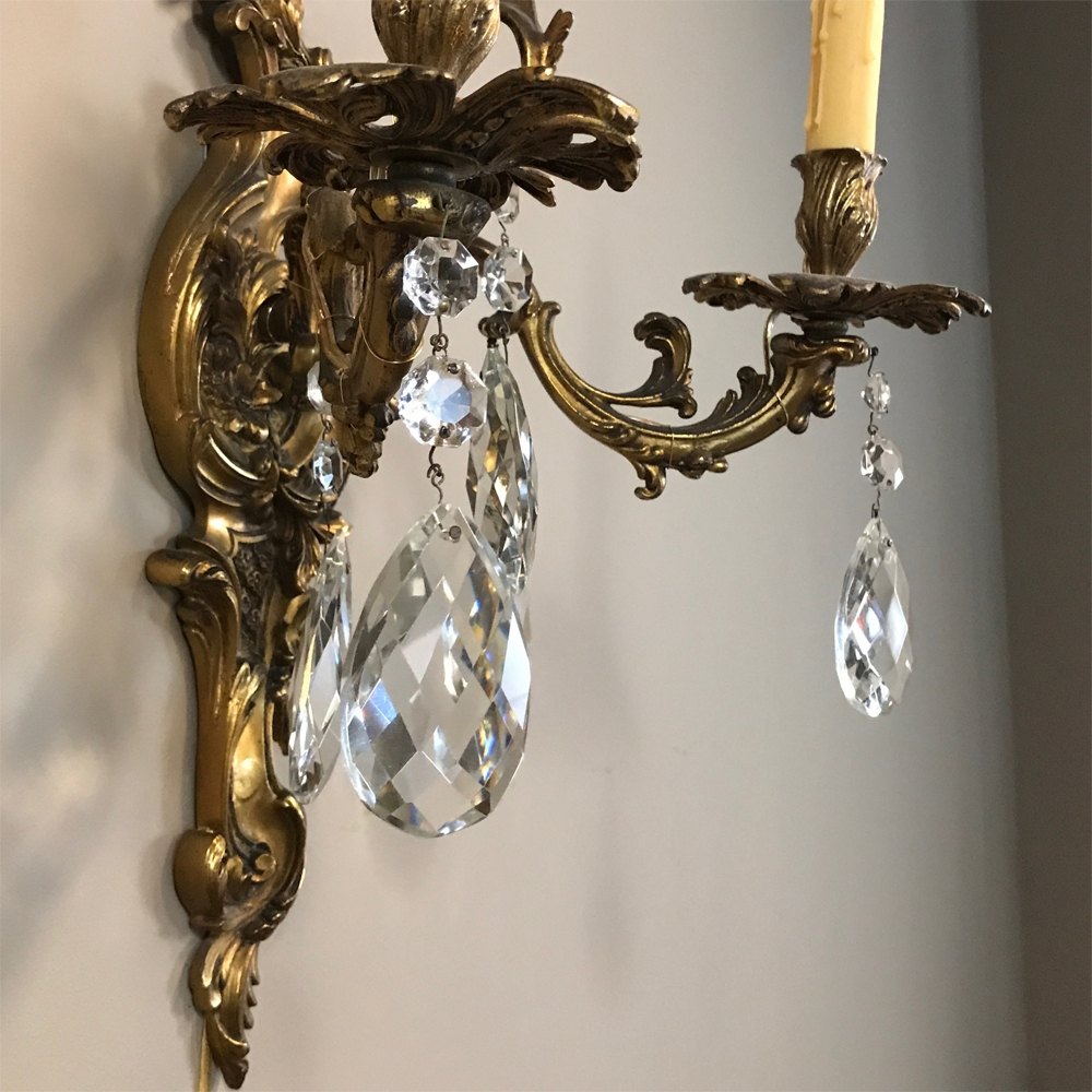century light at sconces crystal shop pd gold lighting sconce elegant wall