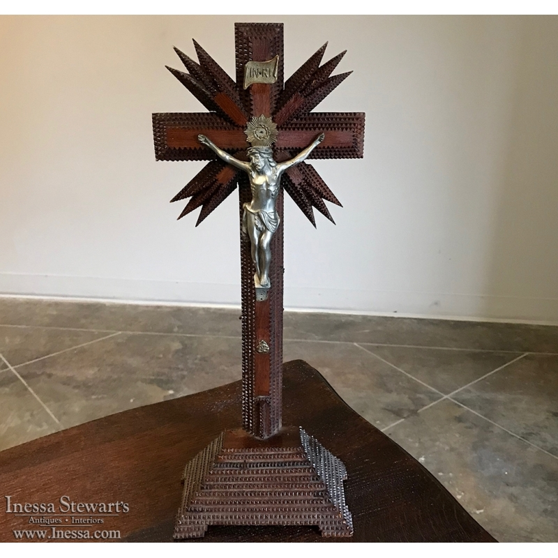 19th Century Arts and Crafts Crucifix