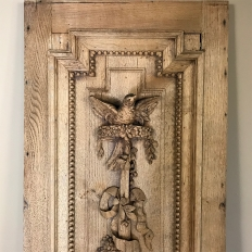 Grand 19th Century French Louis XVI Hand-Carved Oak Panel, over 9 Feet Tall