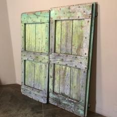 Pair 19th Century Rustic Tuscan Barn Doors