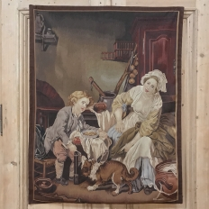 Reproduction Aubusson-Style Tapestry