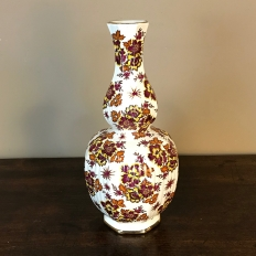 Antique Hand-Painted Flower Vase by Boch