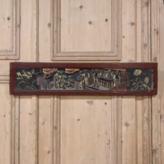 19th Century Carved Chinoiserie Decorative Panel