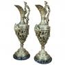 Pair 19th Century Renaissance Revival Bronze Ewers