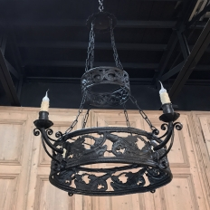 Antique Cast Iron Chandelier