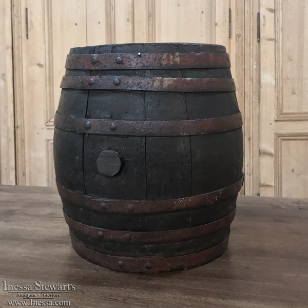 Antique French Wine Barrel