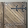 Pair 19th Century Solid Oak Shutters with Forged Iron Hinges