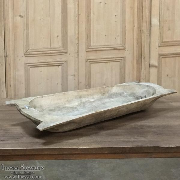 Antique Wooden Grain Bowl