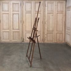 Antique Mahogany Empire Style Display Easel