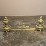 19th Century Cast Bronze Andiron - Fender Set