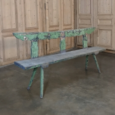 Antique Rustic Painted Bench