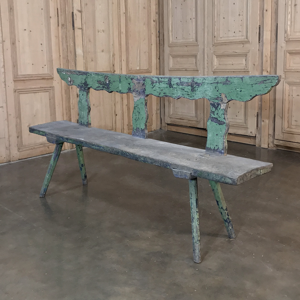 Antique Rustic Painted Bench Inessa Stewart S Antiques