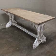 Antique Rustic Painted Country French Trestle Table ~ Sofa Table