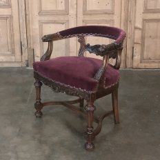 19th Century French Renaissance Desk Armchair
