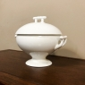 Early 20th Century French White Ironstone Soup Tureen