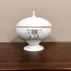 Antique White Porcelain Soup Tureen