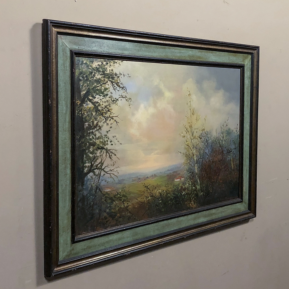 Antique Framed Oil Painting On Board Inessa Stewart S