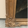 Pair Early 19th Century Framed Oil Portraits on Canvas