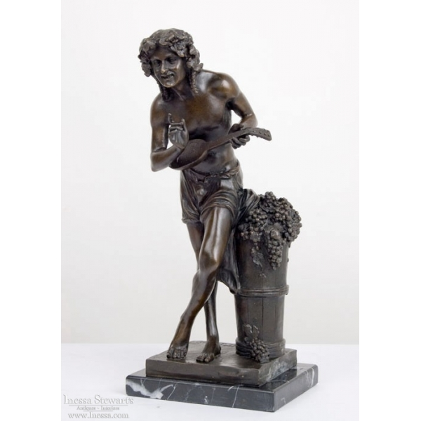 Serenade of Bacchus Bronze Statue