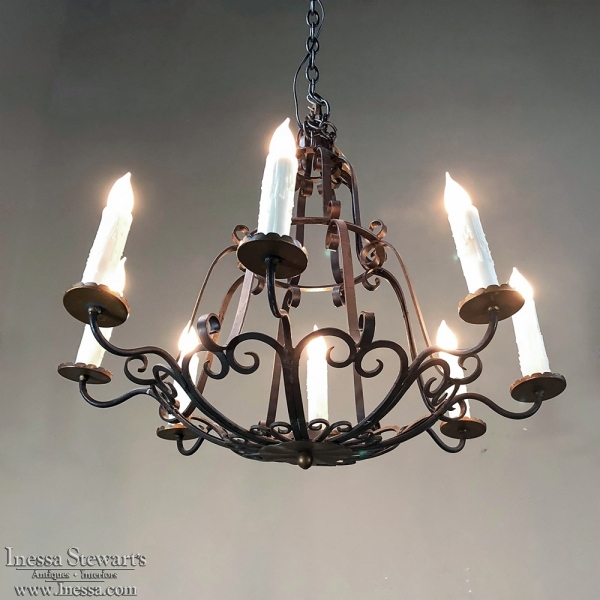 Antique country french wrought iron chandelier inessa stewarts antique country french wrought iron chandelier aloadofball Choice Image